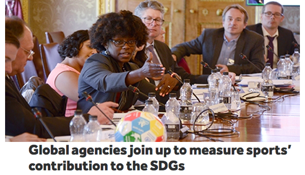 We join Global agencies to measure sports' contribution to the SDGs