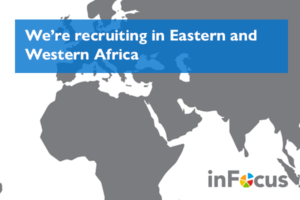 We're recruiting associates in Eastern and Western Africa